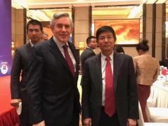 蓝天豚董事长童彬原在京会见英国前首相